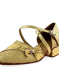 espumosos brillo / zapatos de cuero superior de baile de salón latino zapatos para las mujeres y los niños