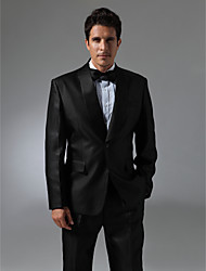 Single Breasted One-button Shawl Lapel Center-vented Groom Tuxedo