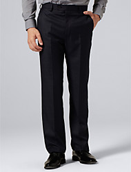 Navy Plaid Suit Pants