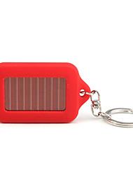 solarbetriebenen weißes Licht 3-LED Schlüsselanhänger Taschenlampe (rot)