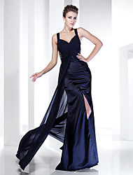 TS Couture® Formal Evening / Military Ball Dress - Elegant Plus Size / Petite Sheath / Column Straps Floor-length Chiffon / Satin with Beading / Split