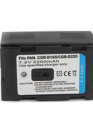 2200mah batería de la cámara d16s/d220 para Panasonic DZ-MX5000, NV-ds99en y más