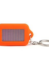 solarbetriebenen weißes Licht 3-LED Schlüsselanhänger Taschenlampe (orange)