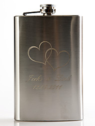 Gift Groomsman Personalized Metal 9-oz Flask - Telesthesia