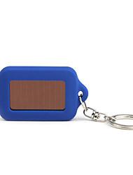 Solar Powered White Light 3-LED Keychain Flashlight (Blue)