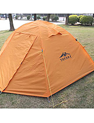 Three Persons Tents with Double Tent Waterproof Anti-wind Outer Tend Anti-mosquito Breathable Inner Tend