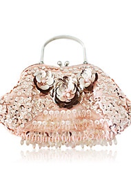 Silk With Beading/ Flower Evening Handbags/ Clutches/ Top Handle Bags More Colors Available