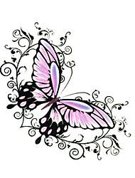 5 pcs borboleta tatuagem temporária à prova d'água (seis centímetros * 6 cm)