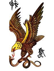 5 pcs tatouage faucon imperméables temporaires (17.5cm * 10cm)