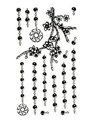 5 Pcs Black Jewelry Waterproof Temporary Tattoo(17.5cm*10cm)