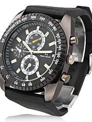Hombre Reloj de Pulsera Cuarzo Japonés Silicona Banda Negro Marca- V6