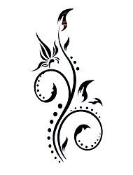 5 pièces de tatouage de fleur hydrofuge temporaire (12,5 cm * 6.5cm)