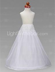 Flower Girl Taffeta A-Line Full Gown 2 Tier Floor-length Slip Style/ Wedding Petticoats