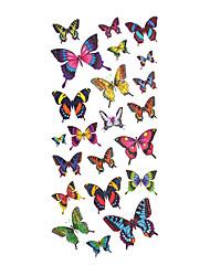 5 pcs borboleta tatuagem temporária à prova de água (18,5 centímetros * 9cm)