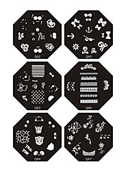 Nail Art Stamp Stamping Image Template Plate Q series 7