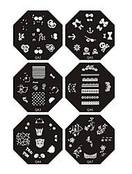 Плиты с изображением шаблонов для нейл арта, серия Q7