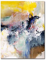 Hand-painted Abstract Oil Painting with Stretched Frame