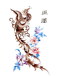 5 pcs Phoenix tatuagem temporária à prova de água (17,5 centímetros 10cm *)