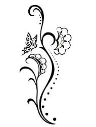5 pcs tatuagem temporária à prova de água de flor (12,5 centímetros * 6,5 centímetros)