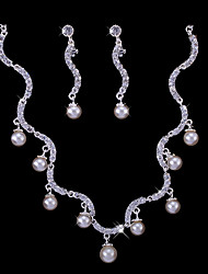 Jewelry Set Women's Anniversary / Wedding / Engagement / Birthday / Gift / Party Jewelry Sets Alloy Imitation Pearl / Rhinestone Silver