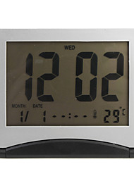 flip-up LCD numérique d'alarme horloge thermomètre calendrier