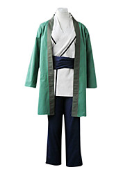 Inspired by Naruto Tsunade Anime Cosplay Costumes Cosplay Suits / Kimono Patchwork White / Green Long SleeveCloak / Kimono Coat / Pants /