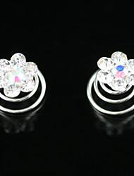 2 Pieces Gorgeous Rhinestones Bridal Pins Wedding/ Special Occasion Headpieces