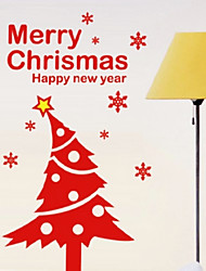 Christmas Decoration Wall Stickers Holiday Ornaments Red Chritmas Tree