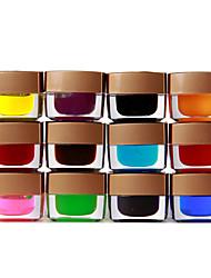 12 farbige Glasur Builder Gel Nailart 8ml
