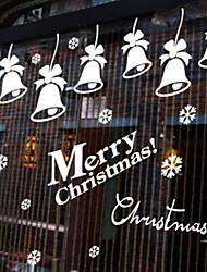 Navidad decoración de la pared pegatinas adornos navideños campanas de Navidad