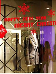Новогоднее украшение стены стикеры украшения праздника Рождества хлопья и чулок