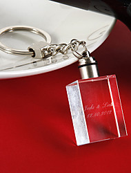 Personalized Rectangle Crystal Keychain