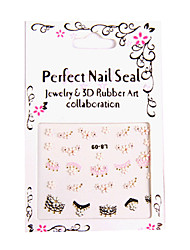 6x 3D Design Nail Art Sticker Tip Decal Manicure
