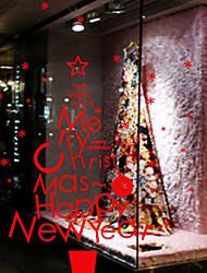 Décoration de Noël stickers muraux vacances ornements chanson de Noël
