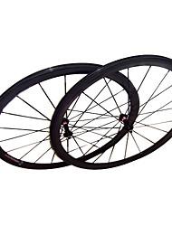 38mmcarbon clarividente de fibra cubierta ruedas carretera bicicleta con la serie s