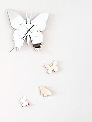 miroir acrylique papillon Horloge murale mute