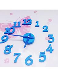 Eva bricolage coloré horloge murale mute