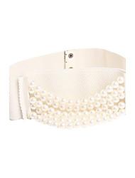 spandex / partie en faux cuir / soir ceintures femmes plus de couleurs disponibles