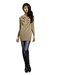 Sheath/ Column Scoop Short/ Mini Cashmere With Sequins Ready-to-Wear Date Dress