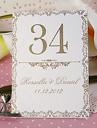 Place Cards and Holders Personalized Table Number Card - Old Fashion (set of 10)