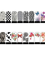 12pcs Nail Foil Art Armour Wraps Patch Stickers-White Series