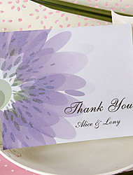Thank You Card - Shining Lilac (Set of 50)