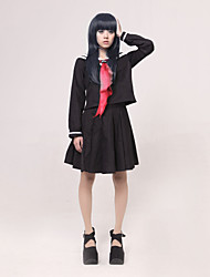 Inspired by Hell Girl Ai Enma Anime Cosplay Costumes Cosplay Suits / School Uniforms Patchwork Black / Red Long SleeveTop / Skirt /