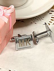 Gift Groomsman Personalized Honed Cufflinks