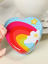 Радуга дизайн в форме сердца олова мяты (набор из 6)