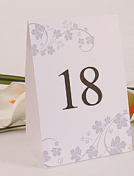 Place Cards and Holders Standing Table Number Card – Spring Garden (Set of 10)