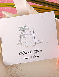 Thank You Card - Coconut Tree (Set of 50)