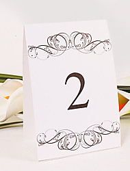 Place Cards and Holders Standing Table Number Card – Pithy (Set of 10)