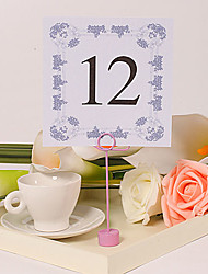 Square Table Number Card – Flower Frame (Set of 10)