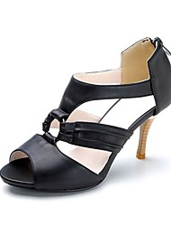 Leatherette High Heel Sandals With Zip (More Colors)